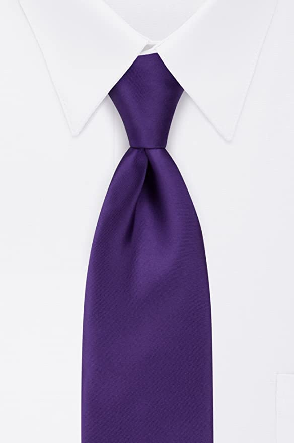 908baf6d4ff5 Van Heusen Men's Right Pre-Tied Solid Tie, Purple, One Size at Amazon Men's  Clothing store: