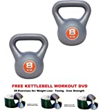 IQI Vinyl kettlebell pair 2x 8kg, kettlebell 8kg pair