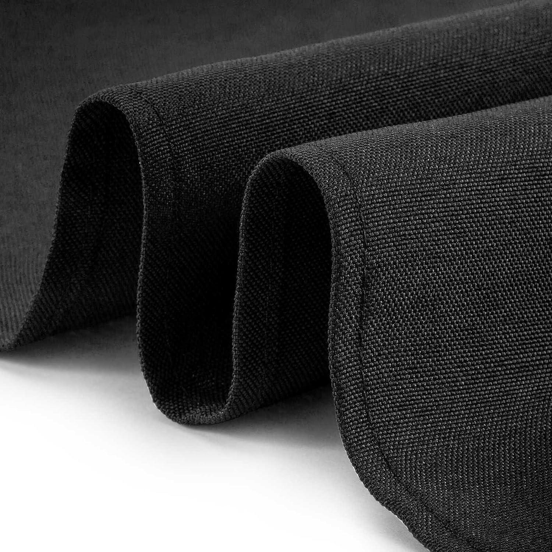 Machine Washable Restaurant//Wedding//Hotel Quality Polyester Fabric Lanns Linens Black 12 Dozen 17 Cloth Dinner Table Napkins