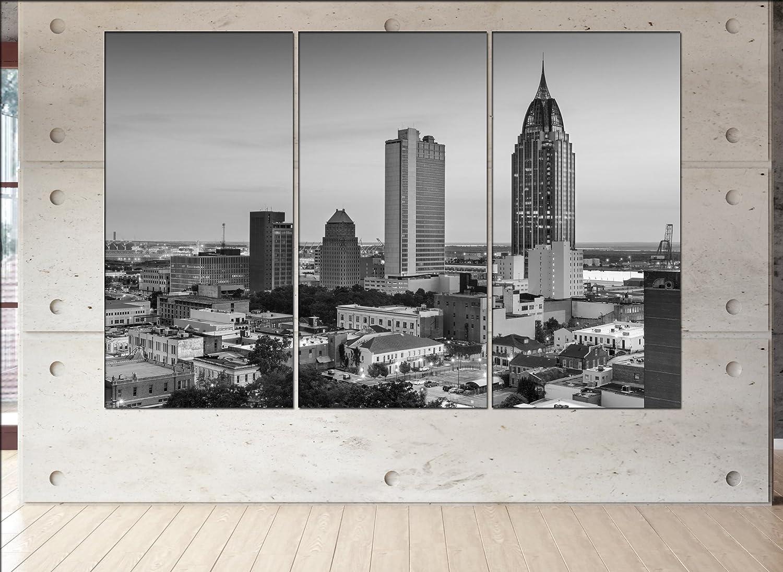 Amazoncom Mobile Alabama Skyline Canvas Mobile Alabama Wall Art