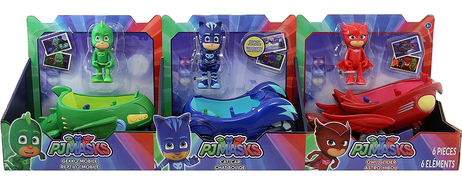 PJ Masks Heroes 6 Piece Character and Vehicle Set eOne