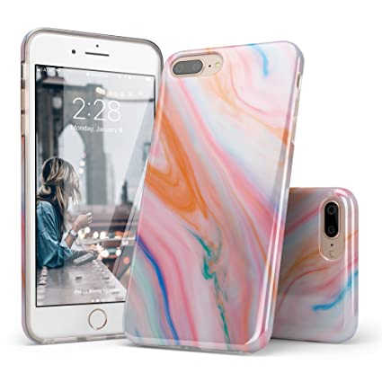 Amazon.com: Mármol iPhone 7 Plus Funda, carcasa iPhone 8 ...