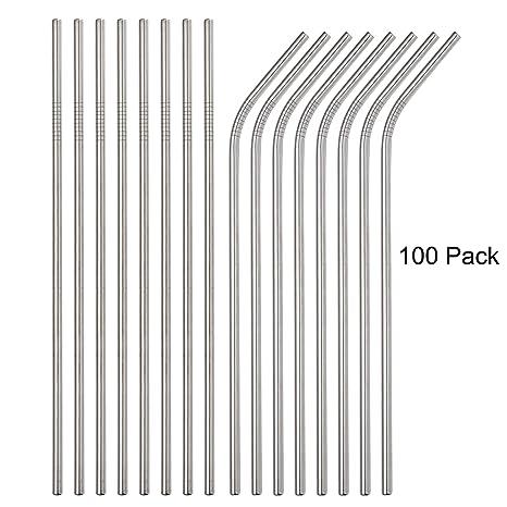 Amazon.com: Brightbuy - Pajitas de acero inoxidable (100 ...
