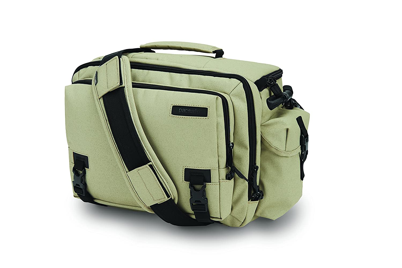 Pacsafe Camsafe Z15 Anti-Theft Camera and Tablet Shoulder Bag, Slate Green Outpac Designs Inc - PACSAFE - CA Z15-Slate Green