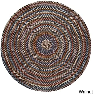 product image for Rhody Rug Augusta Space-Dye Wool Braided Rug Walnut 10' Round Wool 10' x 10' Indoor Natural Round