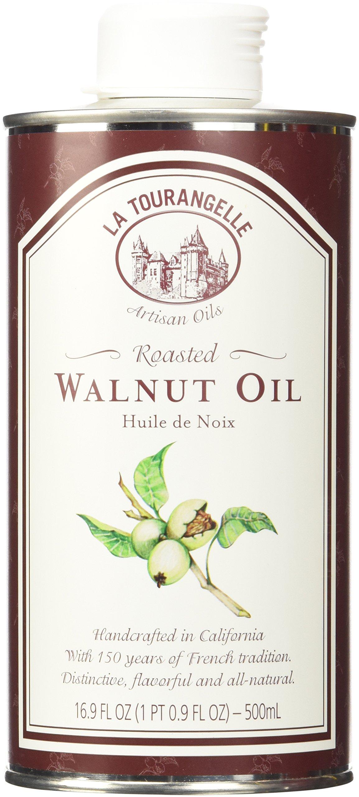Oil Roasted Walnut Tin 16.9 oz/500 ml-Pack of 6 by La Tourangelle