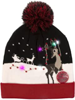 Amazon.com  PUMICE LED Light Up Beanie Colorful LEDs Hat for Women ... b21aaef7a470