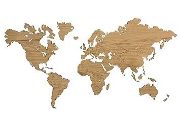 City Shapes Weltkarte Aus Holz Echtholz Hochwertige