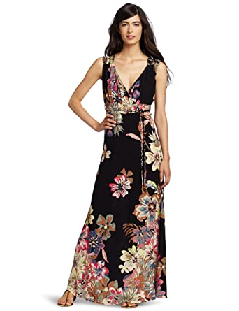 Dept Maxi Jurk.D E P T Women S Tropical Maxi Dress Black X Small At Amazon
