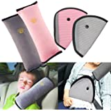4Pack Seatbelt Pillow Car Seat Belt Covers for Kids, Adjust Vehicle Shoulder Pads Safety Belt Protector Cushion Plush Soft Au