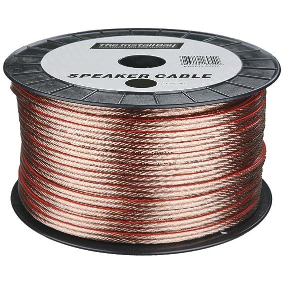 Metra Speaker Wire   Amazon Com Metra 12ga 250 Feet Speaker Wire Clear Car Electronics