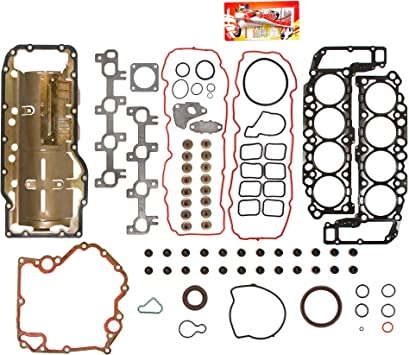 Aintier Automotive Replacement Timing Chain Kit Head Gasket Set w//Bolts Water Pump Fits For Dodge Ram 1500 4.7L Jeep Commander 4.7L
