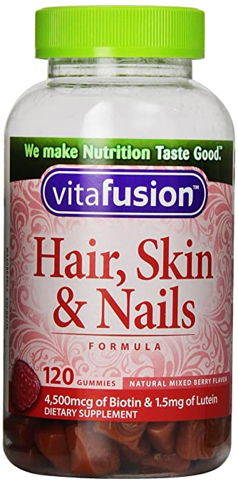 Vitafusion Hair, Skin and Nails Supplement, 120 Count