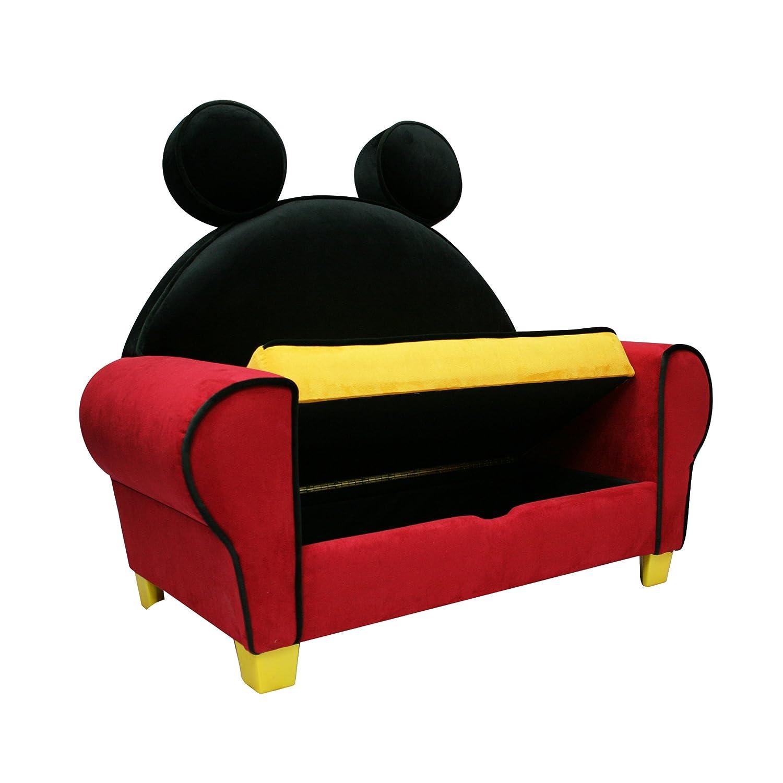 Amazon Com Disney Deluxe Sofa With Storage Mickey Mouse