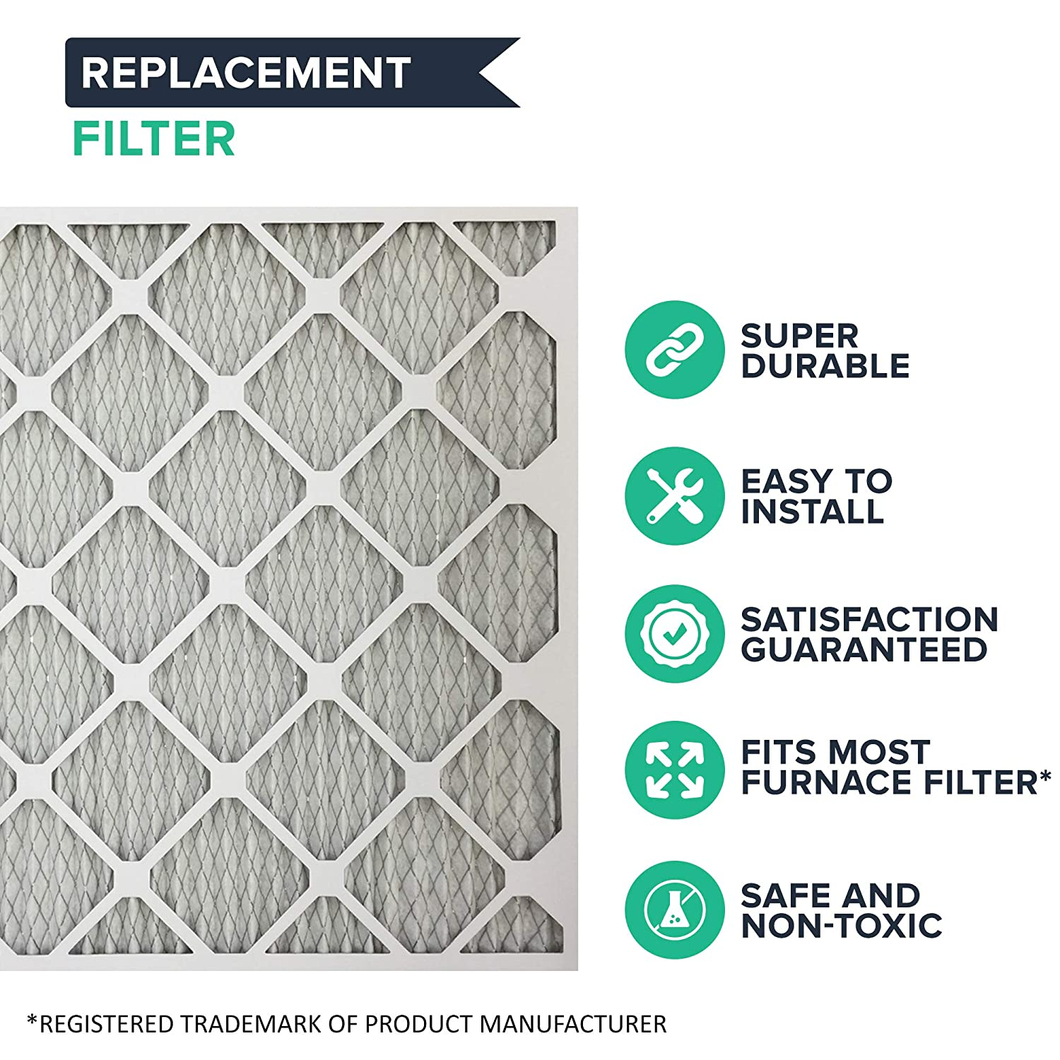 Pleated Think Crucial 2 Replacements for 21x23x1 MERV 11 Allergen Air Furnace /& Air Conditioner Filter