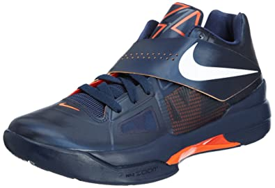 6e9996e6b39 Image Unavailable. Image not available for. Color  Nike Zoom KD IV 4 X Navy  Orange Kevin Durant 35 Mens Basketball Shoes ...