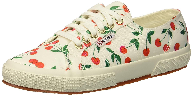 Superga Women's 2750 Satinfantw Sneaker B078KD8XL5 41 M US|Cherry Pattern