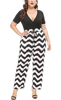 2c93976301 PlusSize Depot Women s Plus Size Deep V Neck Drawstring Waisted Long Pant  Jumpsuit Set 1PC 1XL