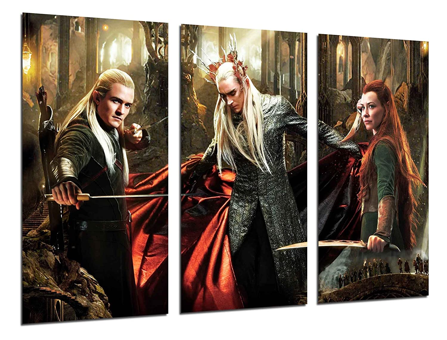 Cuadros Camara MULTI Wood Printings Art Print Box Framed Picture Wall Hanging - The Lord of the Rings, Cinema, Films, (Total Size: 38,2