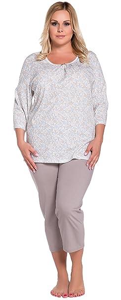 Italian Fashion IF Mujer Pijamas Adele 0222 (Flores, M)