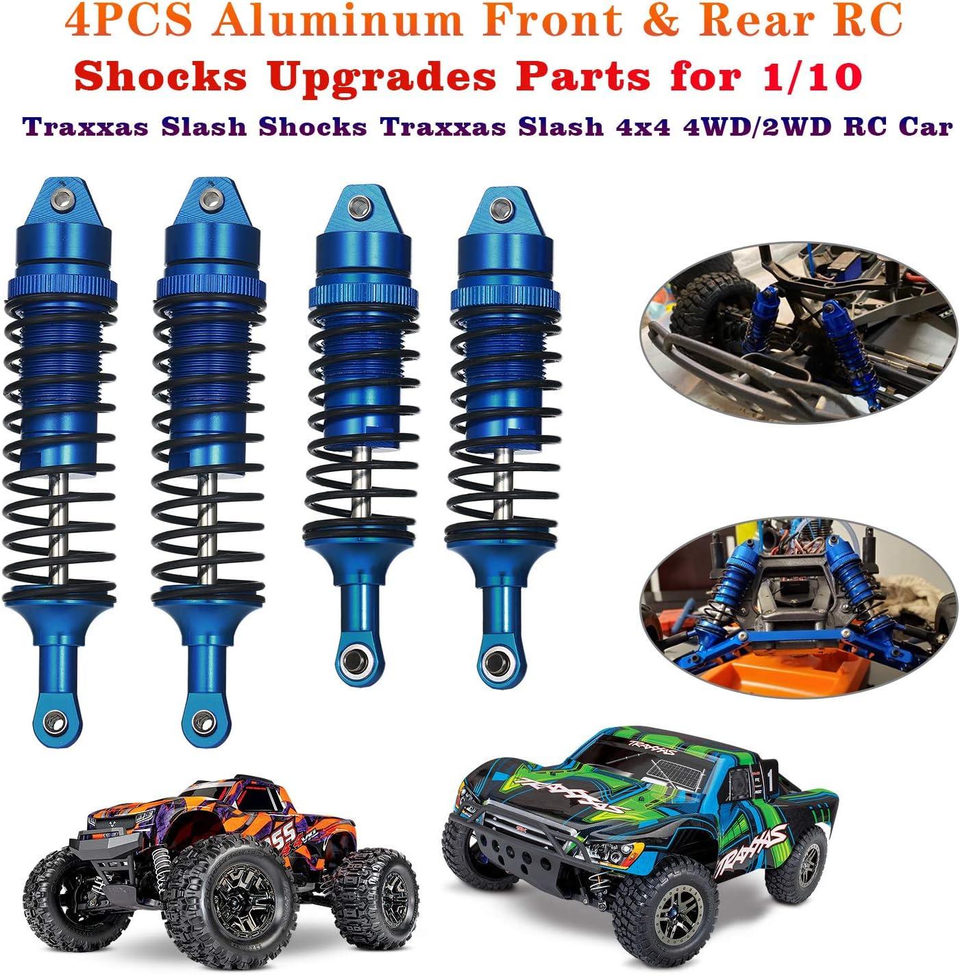 4PCS Aluminum Front /& Rear RC Shocks Absorber Assembled Full Metal Big Bore Shocks Upgrades Parts for 1//10 Traxxas Slash Shocks Traxxas Slash 4x4 4WD//2WD RC Car Replace 5862