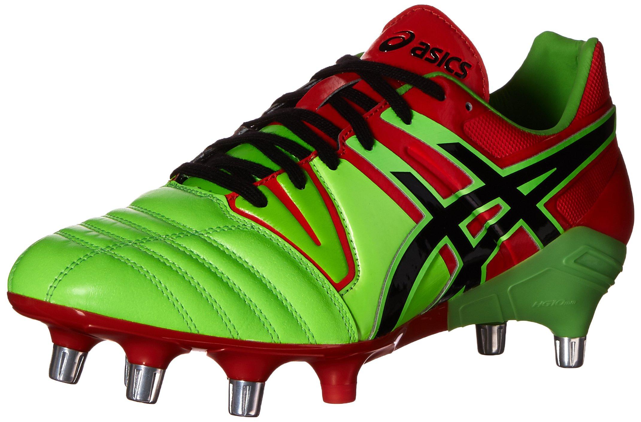 ASICS Men's Gel-Lethal Tight 5 Soccer Shoe,Flash Green/Black/Deep Orange,12 M US