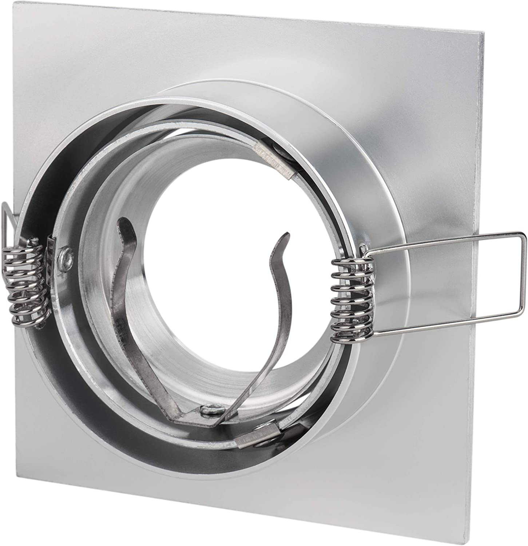 Set Bad Einbaustrahler Kanto quadratisch rostfrei 230V  Einbaustrahler drehbar