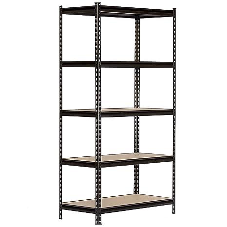 Amazon.com: King s Rack 5 capas negro estante de ...