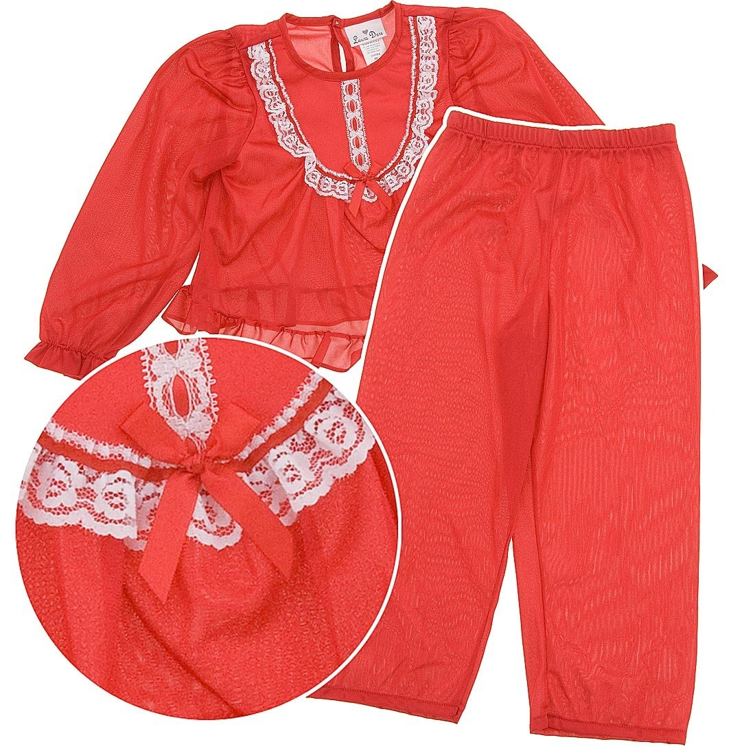 Laura Dare Big Girls Long Sleeve Traditional PJ Set, (7-10) 210594-ALL-LC