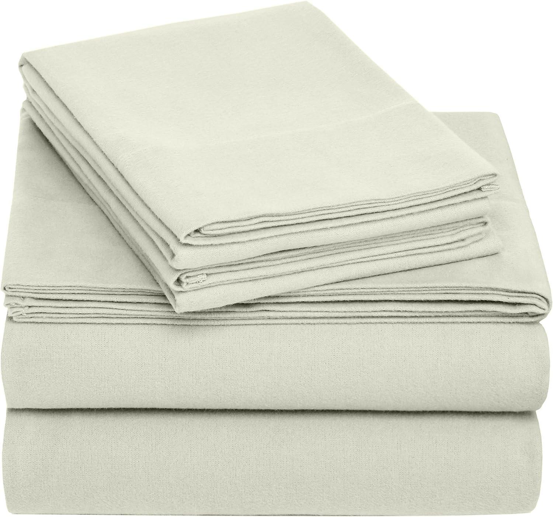 Pinzon Cotton Flannel Bed Sheet Set - Full, Sage