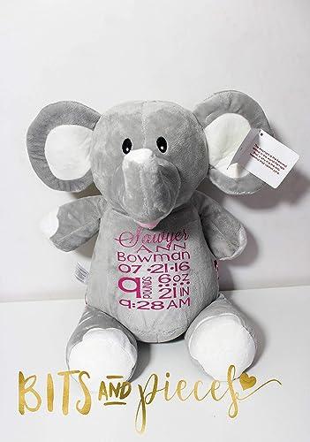 Image Unavailable  sc 1 st  Amazon.com & Amazon.com: Cubbies Personalized Stuffed Animal| Birth Announcement ...