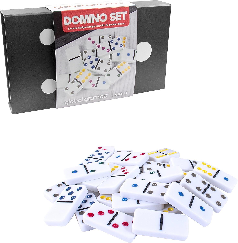 Global Gizmos Dominó 50730 con 6 dominós Dobles en una Caja Gigante de dominó: Amazon.es: Juguetes y juegos