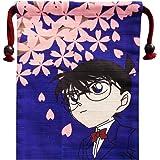 名探偵コナン コナンと桜 シャンタン巾着 約H20×W15.8cm SHCN552