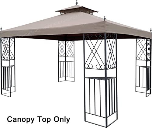 APEX GARDEN Replacement Canopy Top for 10 x 12 Monterey Gazebo L-GZ288PST-4H L-GZ288PST-4D