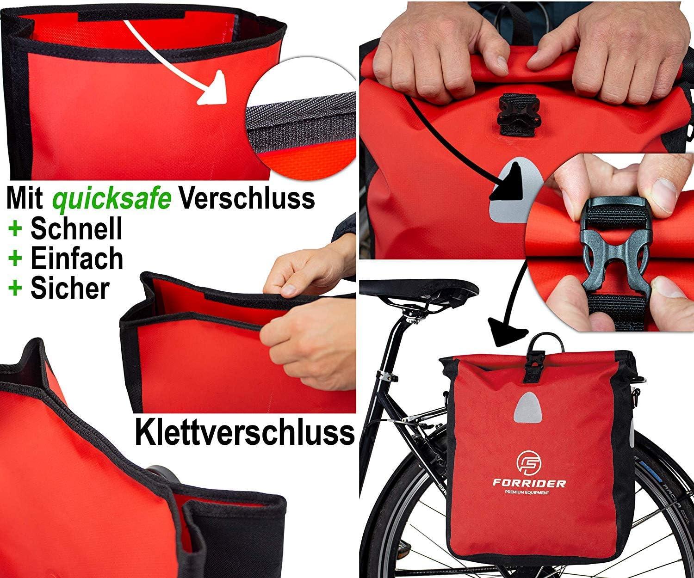 Forrider Fahrradtasche Wasserdicht f/ür Gep/äcktr/äger Gep/äcktr/ägertasche Einzel mit Schultergurt 22L Volumen Fahrrad Tasche Packtasche h/ält an jedem Gep/äcktr/äger
