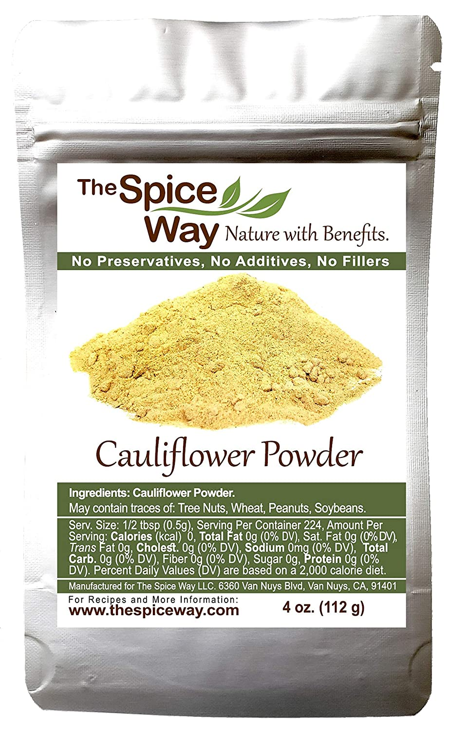 The Spice Way Pure Cauliflower Powder - great for keto diet 4 oz