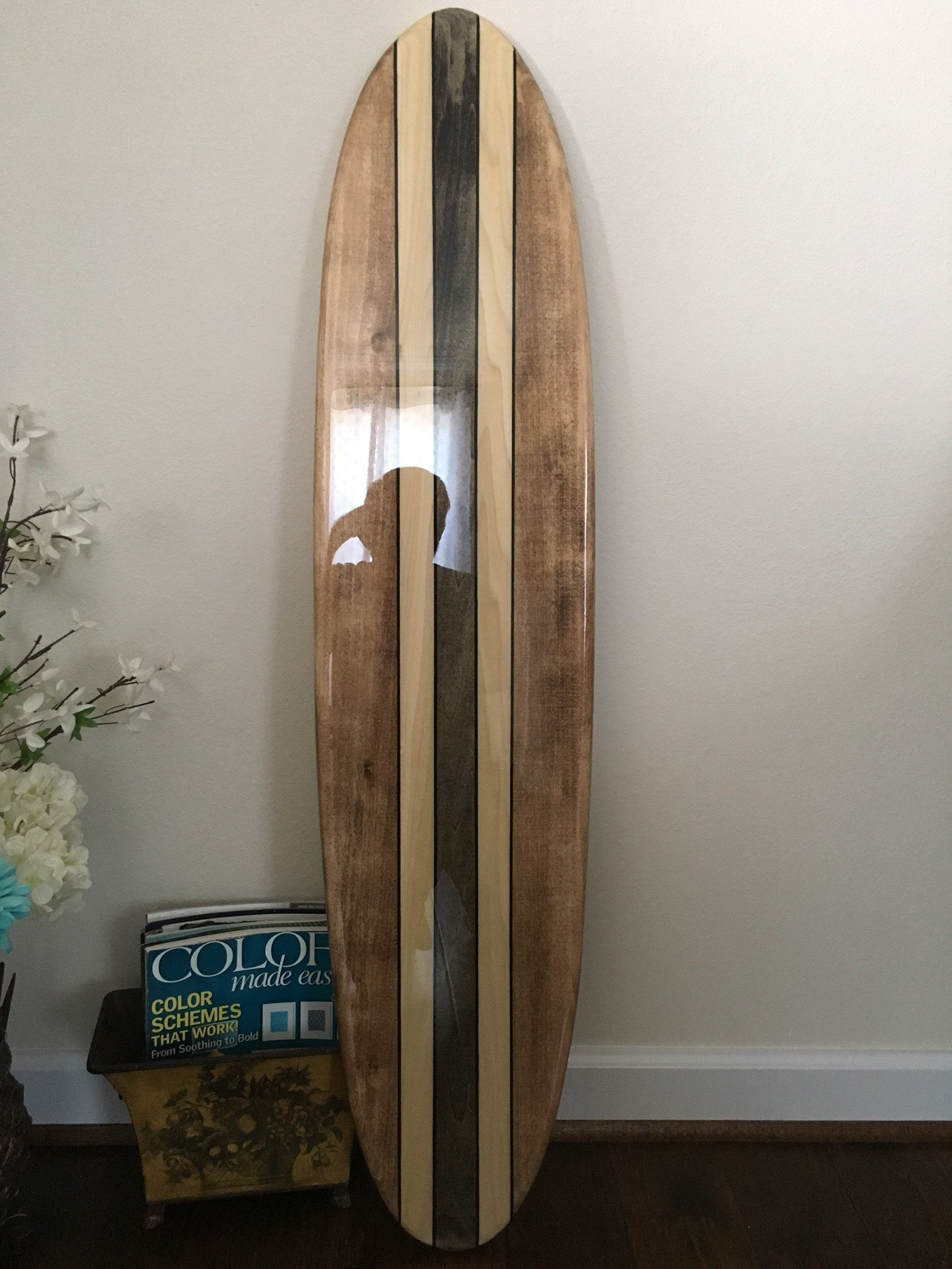 Five foot surfboard wall hanging. Five foot poplar.