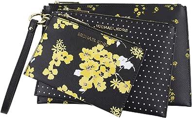 MICHAEL Michael Kors Women's Medium Jet Set Travel Floral Wristlet Trio in Jasmine Yellow Multi, Style 35H9GTVW4V
