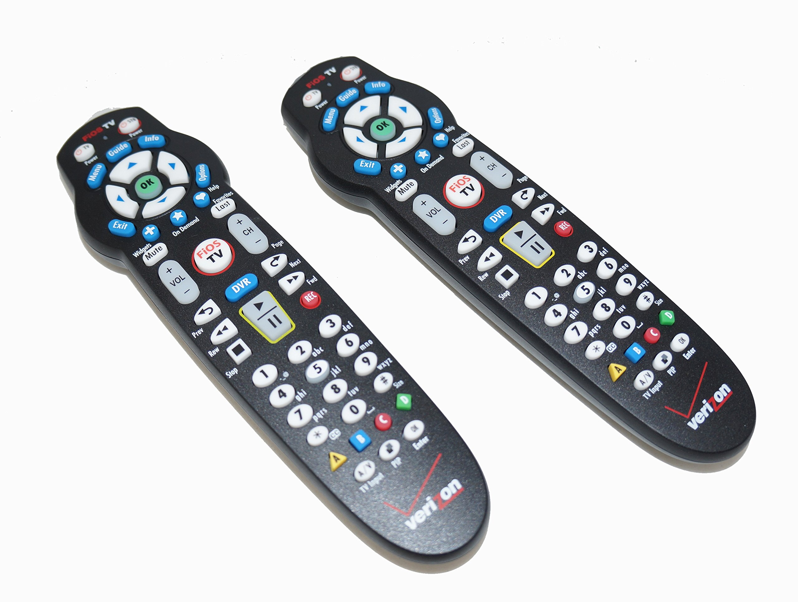 Set of TWO Verizon FiOS TV Replacement Remote Controls by Frontier works with Verizon FiOS systems