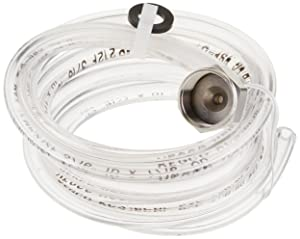 """5 Feet of 3/16"""" ID (7/16"""" OD) Clear Beer Line with Hexnut Assembly"""