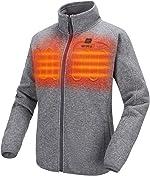 ORORO 2021 Women's Heated Jacket-Full Zip Fleece Jacket with Battery Pack