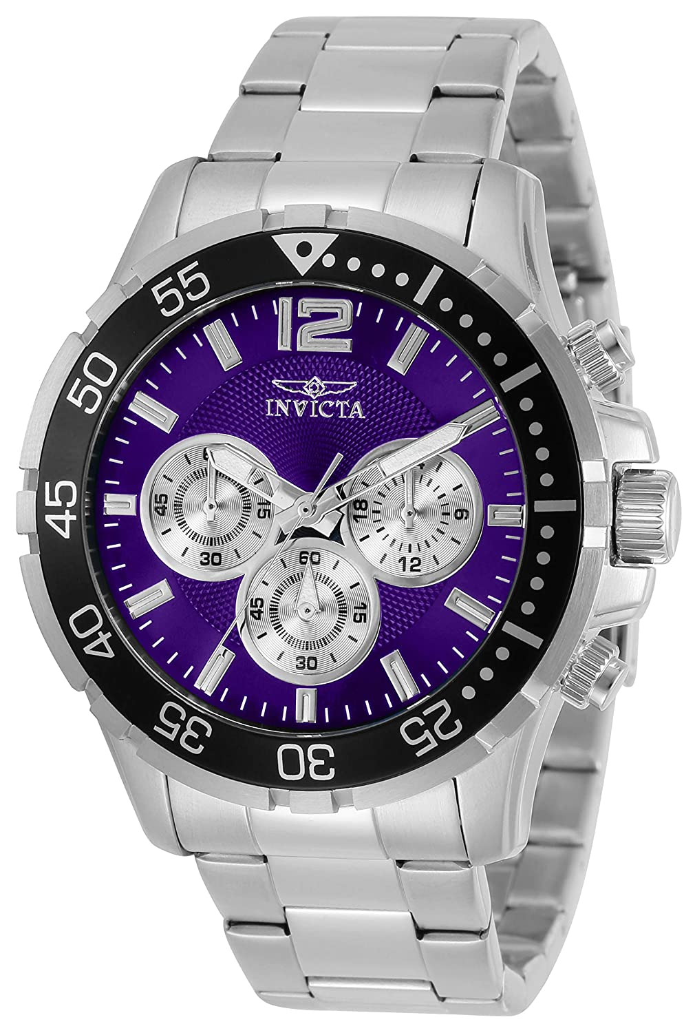 Invicta Men s Specialty Quartz Watch with Stainless Steel Strap, Silver, 22 Model 25755