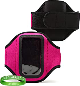 Elegant OEM VG Brand (HOT PINK) Armband with Sweat Resistant lining for Newest Apple iPod Touch with iOS 5 (Black & White 8GB, 32GB, 64GB) + Live Laugh Love VanGoddy Wrist Band!!!