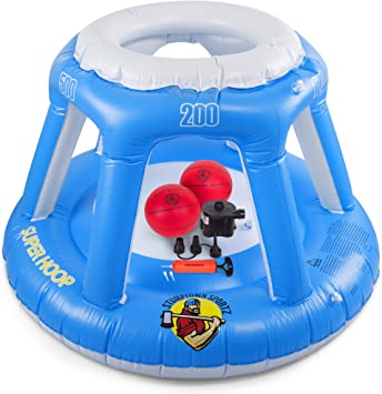 Amazon.com: Canasta de baloncesto inflable para el agua con ...