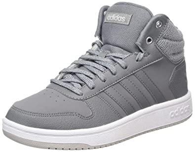 adidas Hoops 2.0 Mid Chaussures de Gymnastique Femme, Gris ...