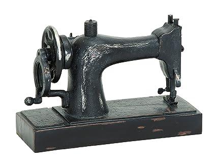 Deco 79 Industrial máquina de coser decoración