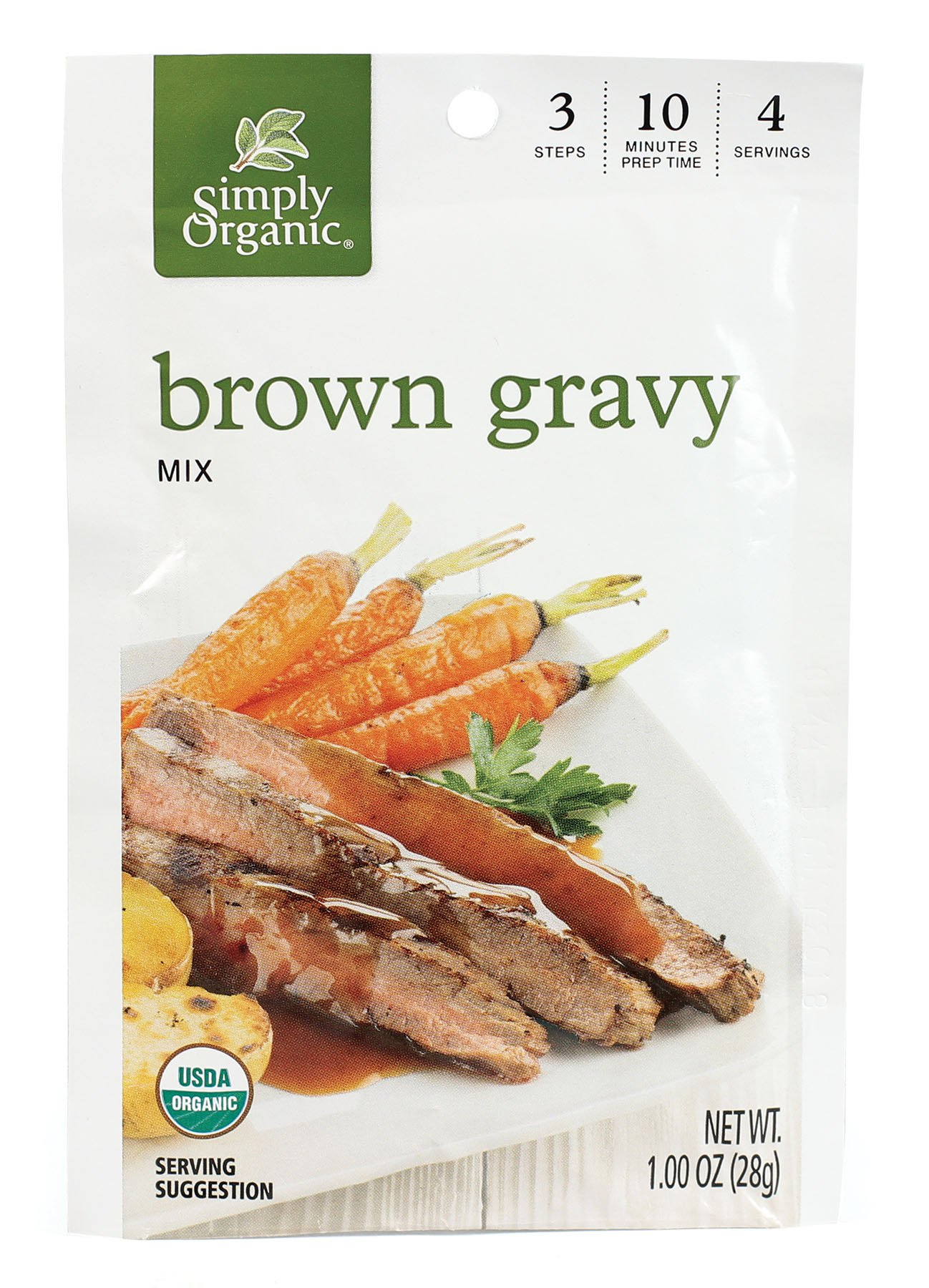 Simply Organic Brown Gravy, Seasoning Mix, Certified Organic, 1-Ounce Packets (Pack of 12) by Simply Organic