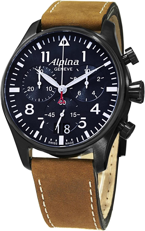 Alpina Reloj Cronógrafo para Hombre de Cuarzo con Correa en Cuero AL-372N4FBS6