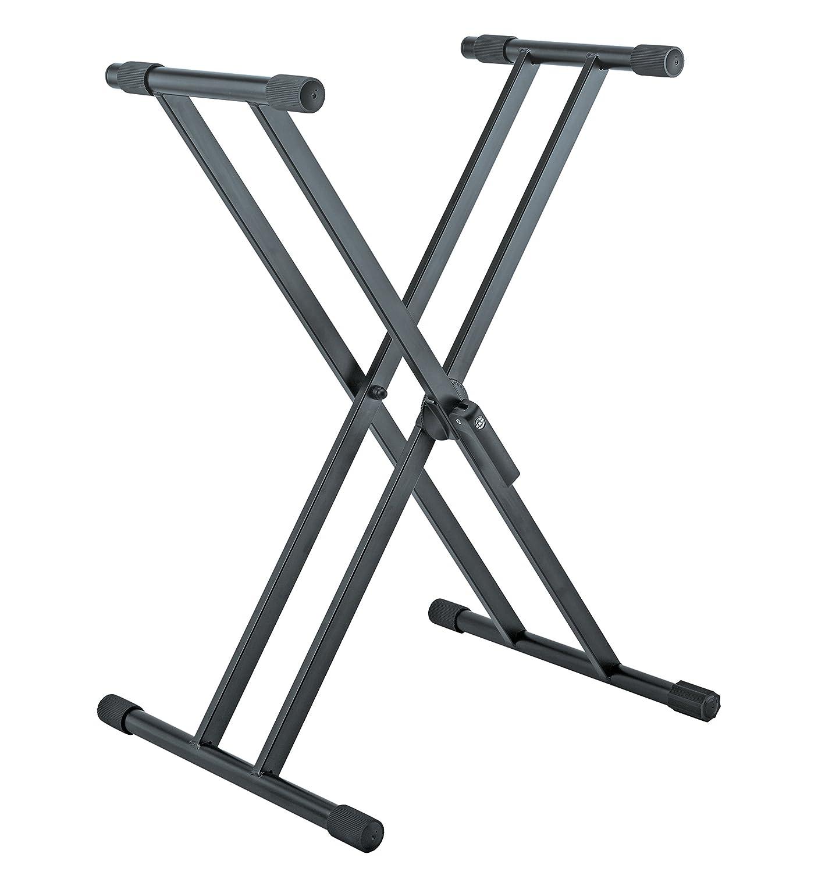 K&M Stands 18990 Black Keyboard Stand-Heavy Duty-Adjustable 18990-015-55