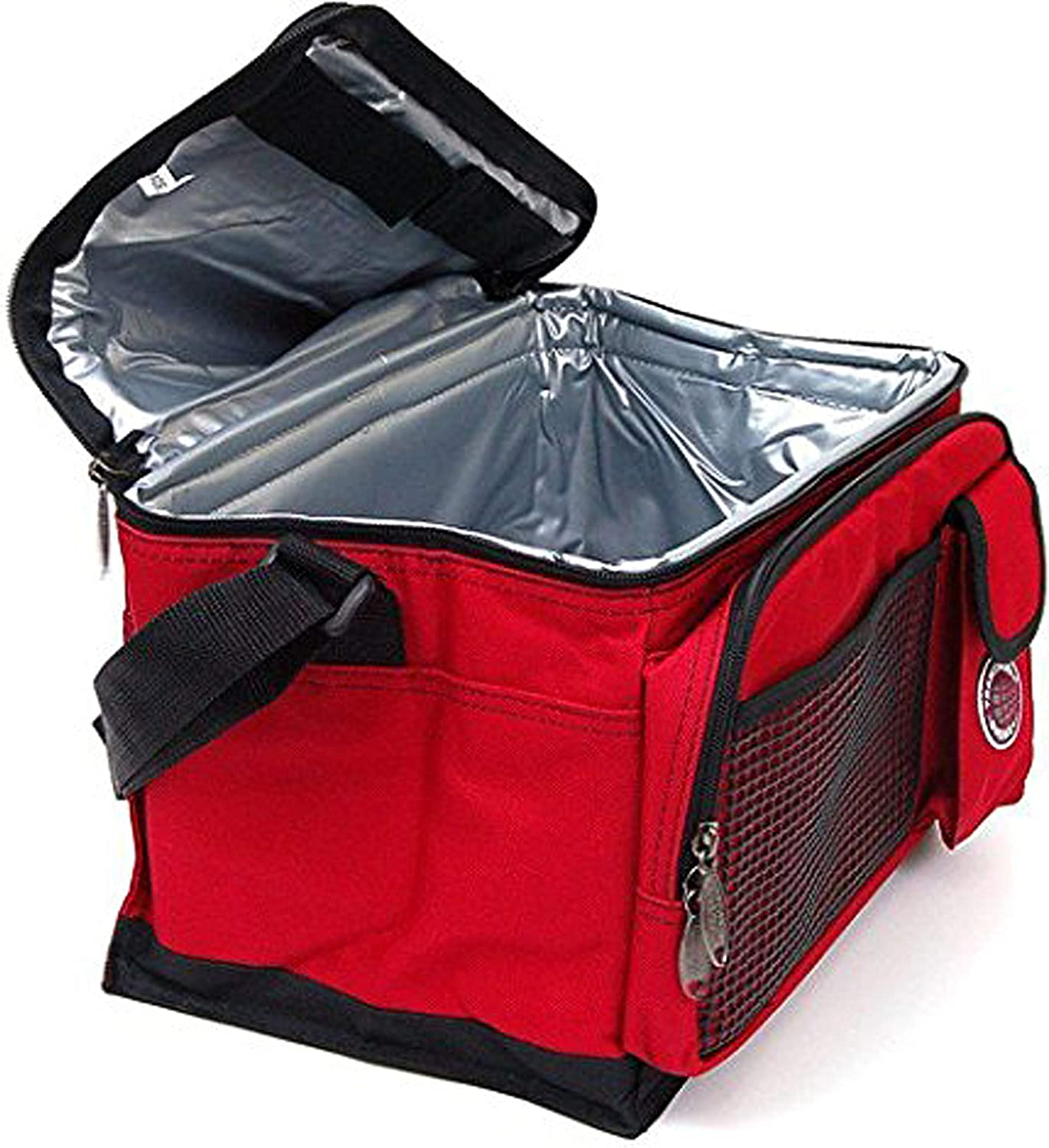 Many Colors and Size Available Transworld Durable Deluxe Insulated Lunch Cooler Bag by Transworld 9 x 7 x 8, Red